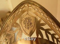 Old Paniere A Pain Massive Silver XIX Minerva 310 Grs