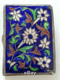 Old Pillbox Enamelled Silver