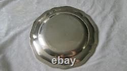 Old Plate / Silver Plate Massif Silver Model With Minerve Net 676 Gr