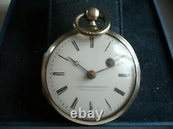 Old Pod Watch Signed Dufour To Montpellier In Silver, 48mm