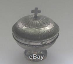 Old Pyxide Travel Hosties Custod Silver Massive Epoque Empire Beginning XIX Th