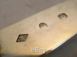 Old Rare Covered Travel Case Galuchat Knife Nacre Silver Massif Knife 18 Èm