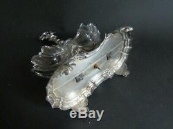 Old Saliere Double In Sterling Silver Saltcellars Baccarat