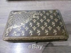 Old Sewing Kit Silver Embroidery