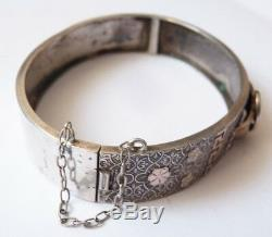 Old Silver Bangle 19th Century Silver Belt Form