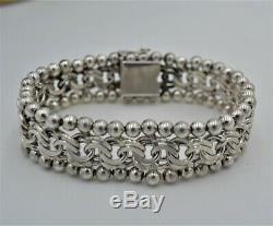 Old Silver Bracelet 835 Weevils