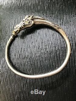 Old Silver Bracelet And Gold Arthus Bertrand Horse Rare