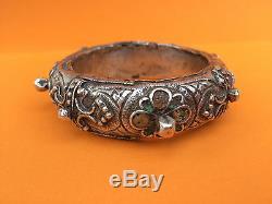 Old Silver Bracelet Enamels Morocco Gem Berber Amazigh Nineteenth