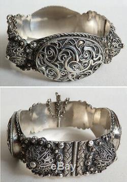 Old Silver Bracelet Ethnic Maghreb Silver Bracelet