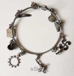 Old Silver Bracelet Signed H. Teguy Celtic Basque Country