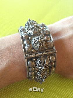 Old Silver Bracelet Yemen Punch Crab