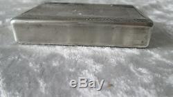 Old Silver Snuffbox Massive Snuff Box French Guilloché