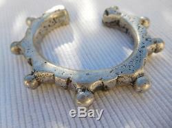 Old Slave Vintage Bracelet Sterling Silver Africa Tuareg 108 Grams Ac25