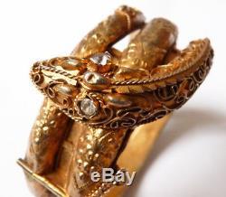 Old Snake Silver Sterling Silver Vermeil Snake Bracelet