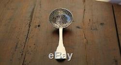 Old Sugar Spoon Sugar Shaker Silver 18th Century Paris 1789