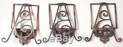Old Superb 3 Frames Silver Menu Holder Silver 19th Century