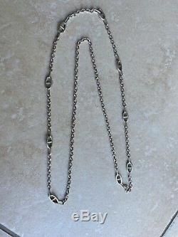 Old Vintage Collar Necklace In Sterling Silver Farandole Marine Hermes