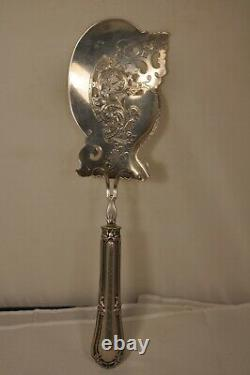 Pelle Poisson Service Ancien Argent Massif Antique Fish Serving Spoon Sol Silver