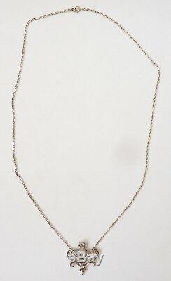 Pendant Necklace Or Massive + Silver + Diamond Jewel Old Gold Necklace Diamond