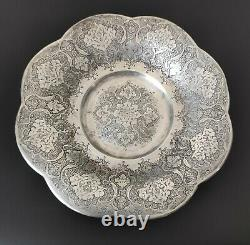 Plate Ancien Argent Solidif 84 Perse Silver Persian Plate Dish
