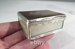 Pretty Old Box Tabatiere Silver And Pearl XVIII Louis XV