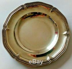 Puiforcat Old Bread Plates Silver Edge Net Sterling Silver