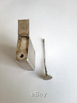 Rare Antique Gasoline Lighter In Sterling Silver, Circa 1930-40