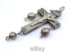 Rare Former Regional Cross Bourg Solid Silver Batz Brittany XIX