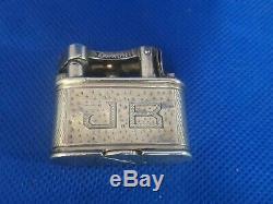 Rare Old Dunhill Lighter Silver Gasoline Solid Silver Petroleum-lighter