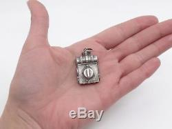Rare Old Photo Holder Haversac Ace Sterling Silver 42 Ric