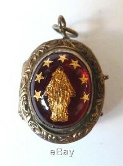 Reliquary Money Former 19th Century Silver Reliquary Virgin Holy Cross