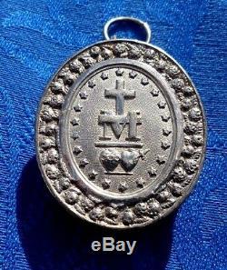 Reliquary Pendant In Sterling Silver Old St Vincent De Paul 1830