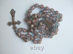 Rosary Former Saphiret Massive Silver Antique Silver Cross