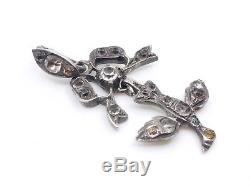 Saint Esprit Pendant In Solid Silver And Rhinestones 19th Century Regional Jewel