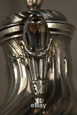 Selfish Coffeemaker Jug Old Sterling Silver Antique Solid Silver Coffee Pot
