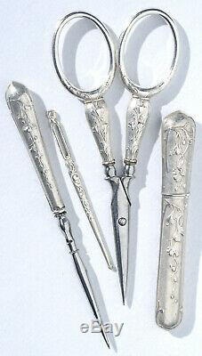 Sewing Kit Money Former Embroidery Scissors Sewing Needles Jewel Case