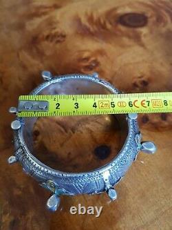 Silver Bracelet Massive Email Tiznit Maroc Berbere Maghreb Ancient Touareg Kabyle