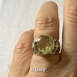 Splendid Ancient Ring Imposing Natural Citrine Silver Massive, Creator