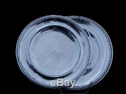 Sterling Silver 2 Plates 19th Old Punch Old Man