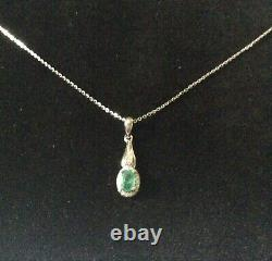 Stunning Ancient Emerald Real Emerald Necklace From Colombia, Gold, Silver Massif