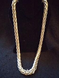 Stunning And Important Sturdy Silver Necklace Old 92gr