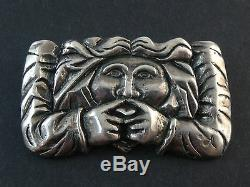 Stunning Old Vintage Silver Brooch Creator Grotesque Character
