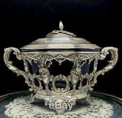 Sugar Jam Former Sterling Silver XIX Minerva Massat Brothers Napoleon III