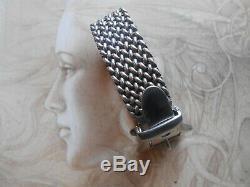 Sumptuous Old Couture Bracelet Solid Style Vintage Silver H (95.5 G)