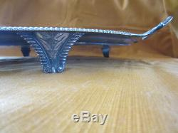 Sumptuous Old Solid Silver Tray Nineteenth Great Britain