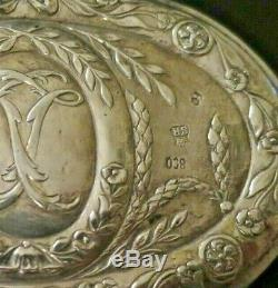Superb Box Oval Old Engraved Silver Punches Late Nineteenth Century