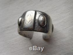 Superb Bracelet Ethnic Vintage Old Silver Massif Africa 141 Grs Os47