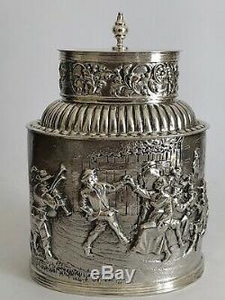 Superb Old Rare Box To The Silver Punches Lion Amsterdam Netherlands