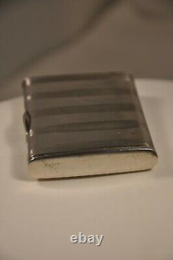 Tabatiere Pyrogen Ancient Silver Massive Antique Solid Silver Vesta Case Snuff Box