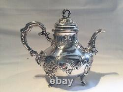 Tea Service Or Old Silver Silver Coffee, Three Rooms, Minerve Punch